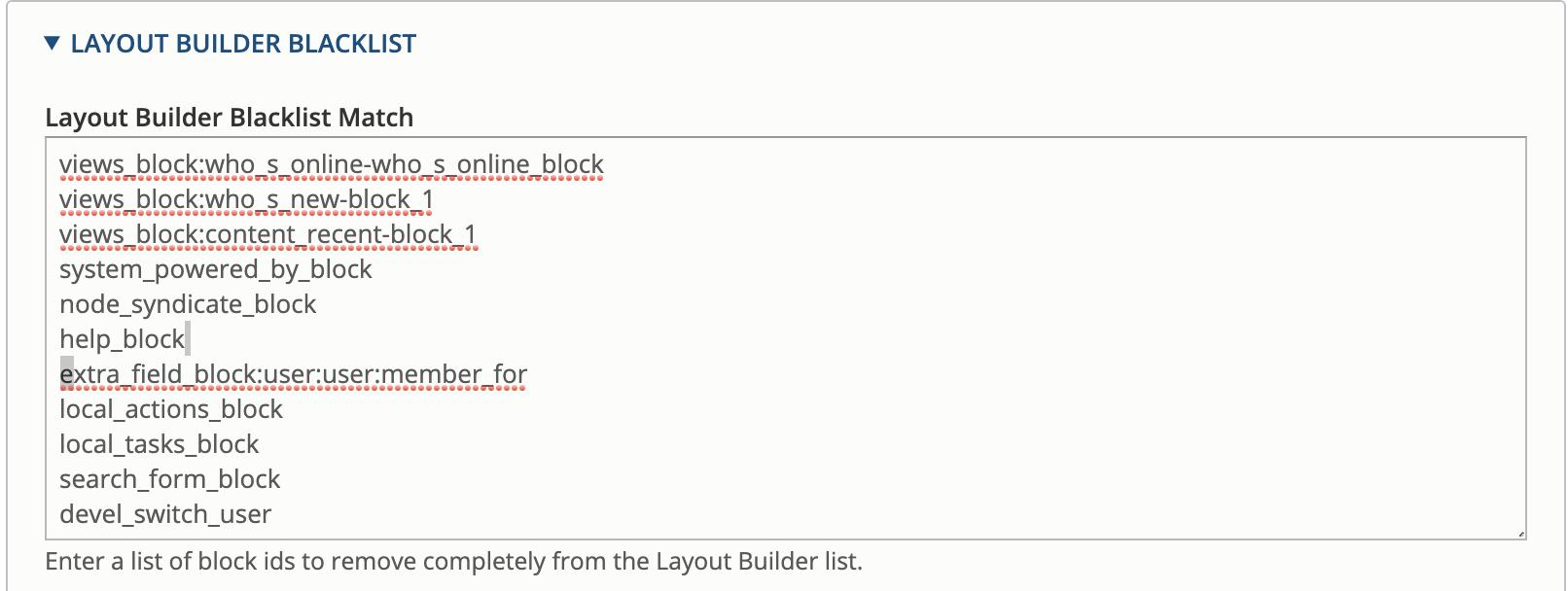 Block Blacklist