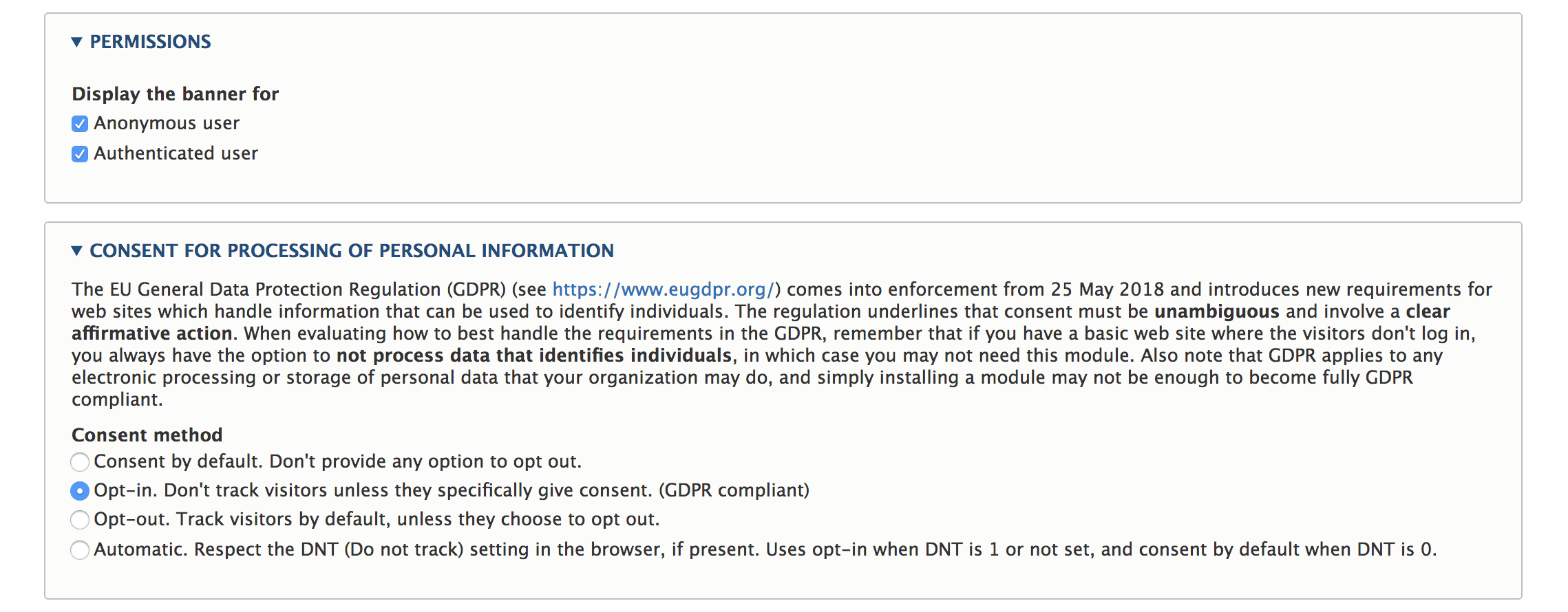 Drupal GDPR help from the EU Cookie Compliance module | Fuse
